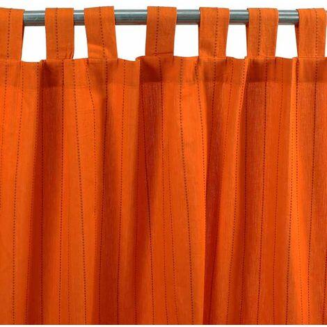 ONTARIO - Rideau en coton bi-colore orange 150x250 - Orange