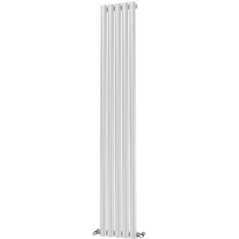 Onyx Omega Single Panel Designer Vertical Radiator White - choose size