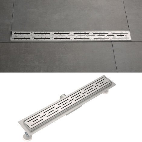 OOBEST® Desagüe de acero inoxidable,desagüe lineal de ducha ,sumidero con sifón antiolores diseño -70cm