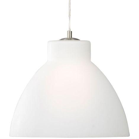 OPAL PENDANT - 30cm 1 LIGHT OPAL GLASS