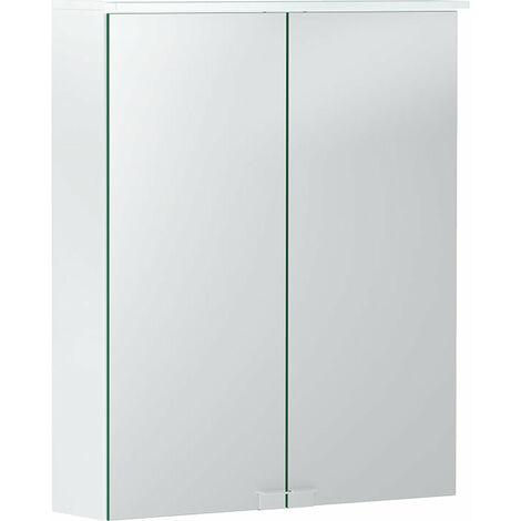 Opción Geberit Armario con espejo básico con iluminación, dos puertas, anchura 55cm, 500258001 - 500.258.00.1