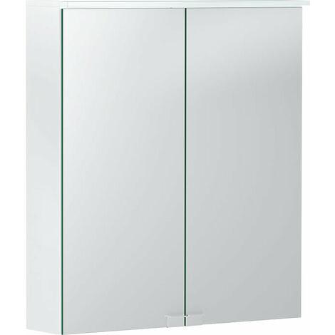 Opción Geberit Armario con espejo básico con iluminación, dos puertas, anchura 60cm, 500273001 - 500.273.00.1
