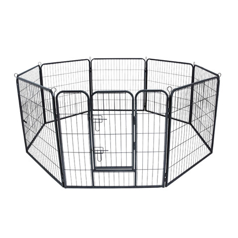Open enclosure Exercise pen Open pen for puppies Barrier grille L 77x101 cm