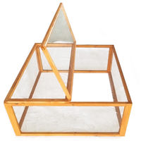 Open enclosure wood square with cover Small animal stable Rabbit