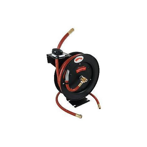 "Open framed 30ft x 1/2"" Auto-retractable Air Line. Wall Mountable Hose"