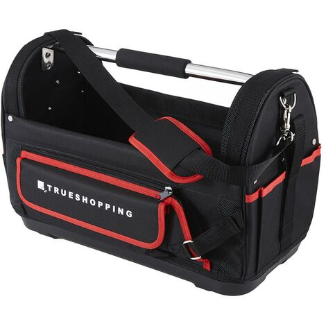Open Tote Tool Bag Organiser Heavy Duty Tool Storage Wide Mouth Waterproof Base