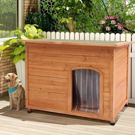 Openable Roof Dog Kennel House Insulated with Removable Floor, Large
