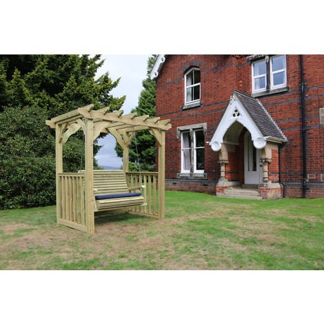 Ophelia Swing - Sits 2, wooden garden swinging chair hammock