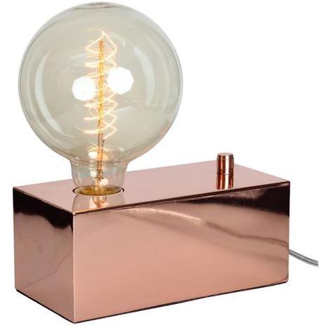 """Opjet 011620 - Lampe à varier """"EUREKA"""" E27 40W - 20x10xH8cm - Cuivre"""