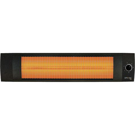 OPRANIC LAVA Calefactor eléctrico de infrarrojos, 1500 vatios, Montaje en pared o techo, Color negro perla