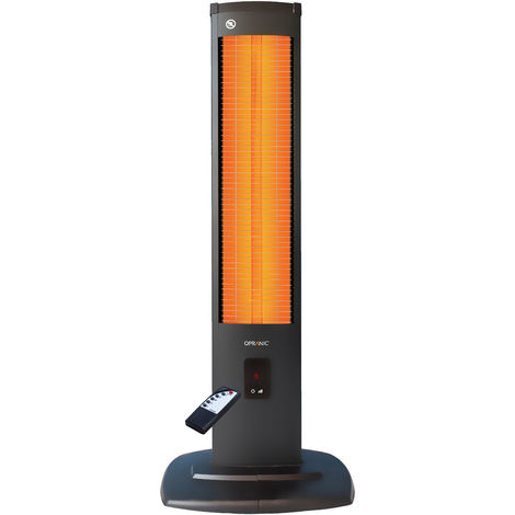 OPRANIC THOR Calefactor eléctrico de infrarrojos vertical 2000 vatios, Color negro perla
