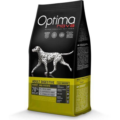 Optimanova Adult Digestive All Breeds coniglio e patate Grain Free per cani Optimanova