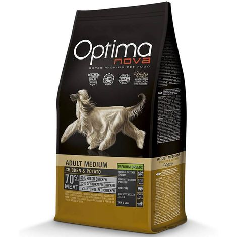 Optimanova Adult Medium Chicken and Potatoes for Dogs Optimanova