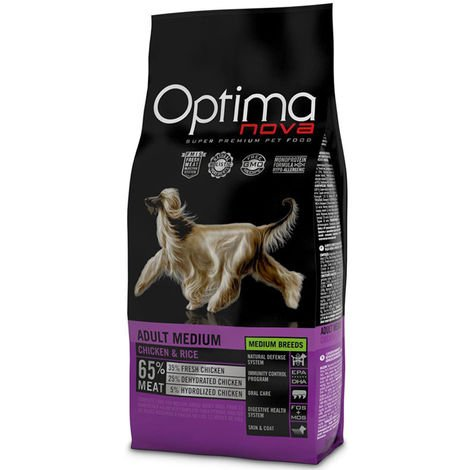 Optimanova Adult medium chicken and rice for dogs Optimanova