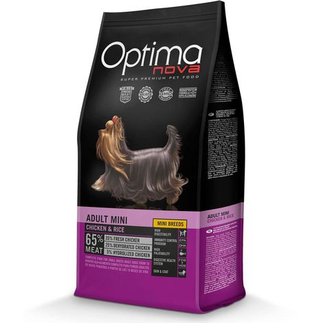 Optimanova Adult Mini Chicken and Rice for Dogs Optimanova