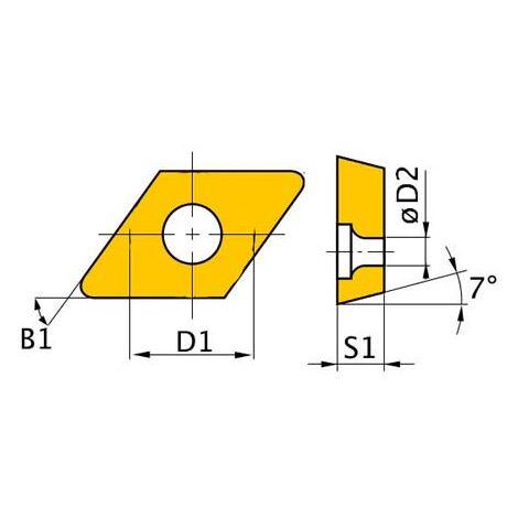 OPTIMUM 3441758 PLAQUITAS DE CORTE HM - CUCHILLA DCMT