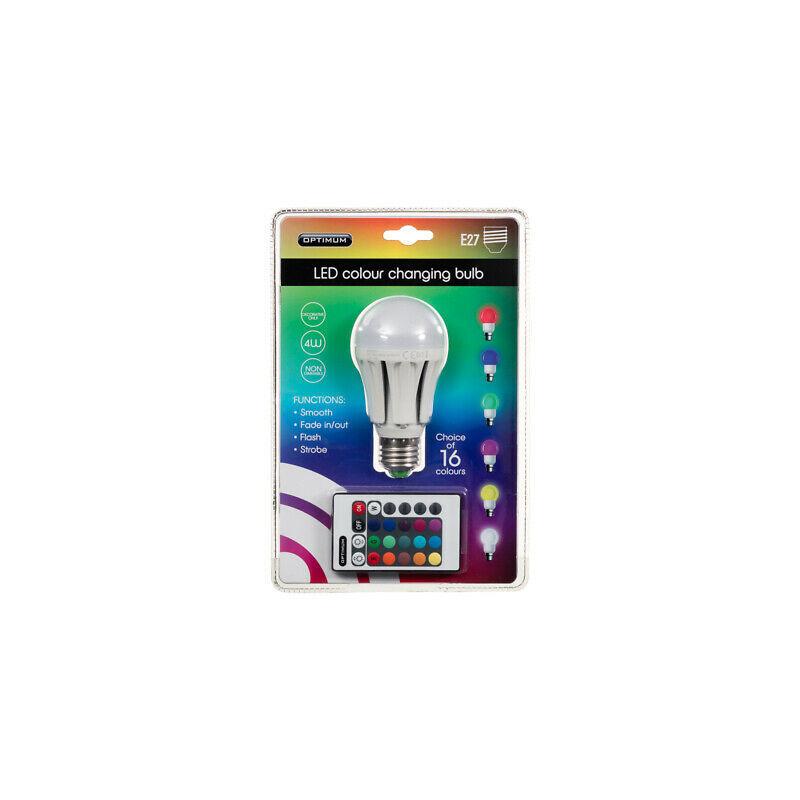 Image of Optimum LED Colour Changing Light Bulb E27 - EVEREADY