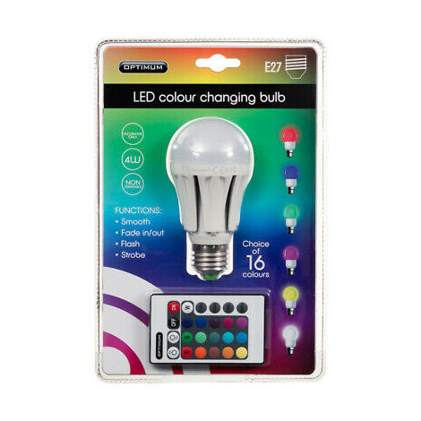 "main image of ""Optimum LED Colour Changing Light Bulb E27"""
