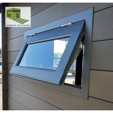 Option fenêtre aluminium 90x50 cm, pour abri aluminium et composite.
