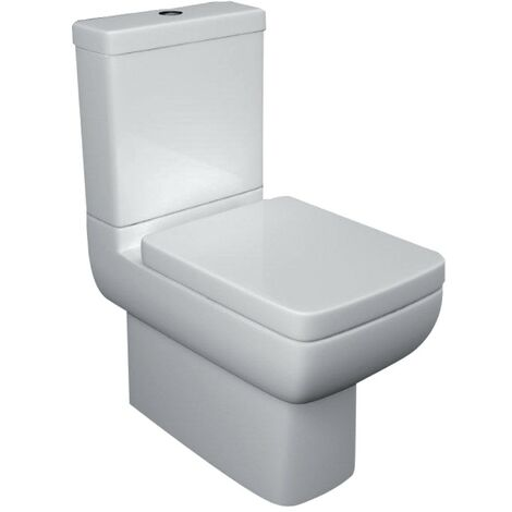 Options 600 Close Coupled Closed Back Toilet & Soft Close Seat