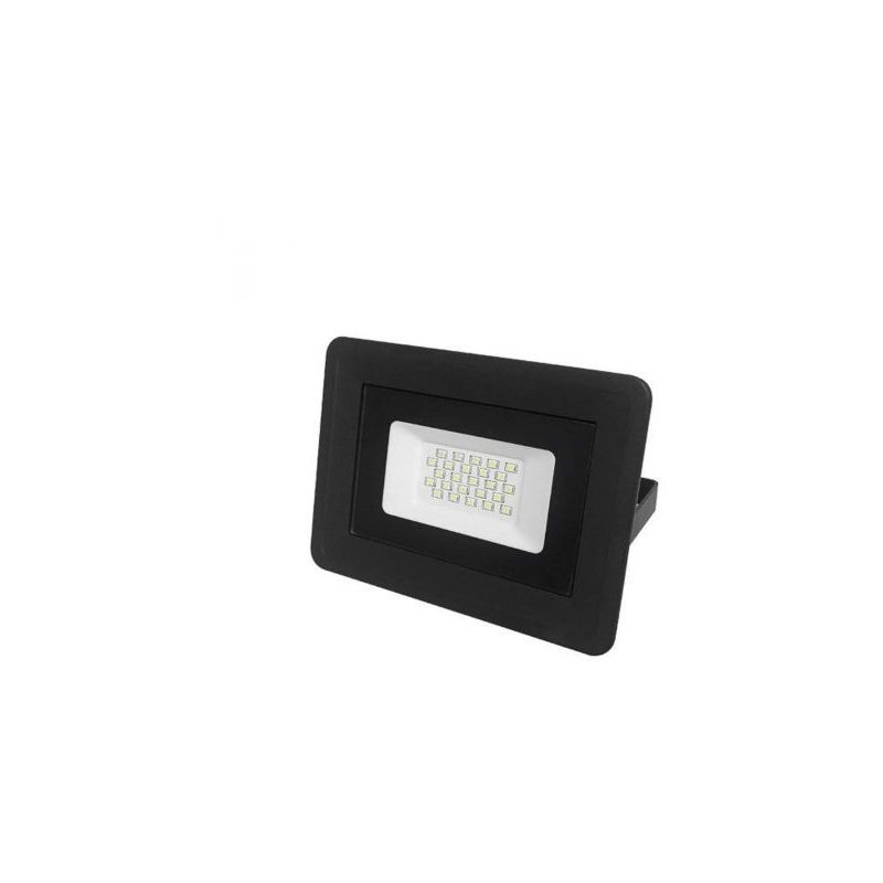 Faro LED slim nero IP65 luce bianca fredda 6000K 10W - 850 lumen