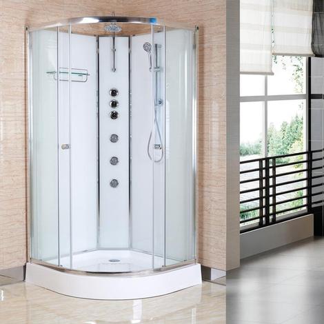 Opus 01 800mm iLock Quadrant Shower Cabin Polar White