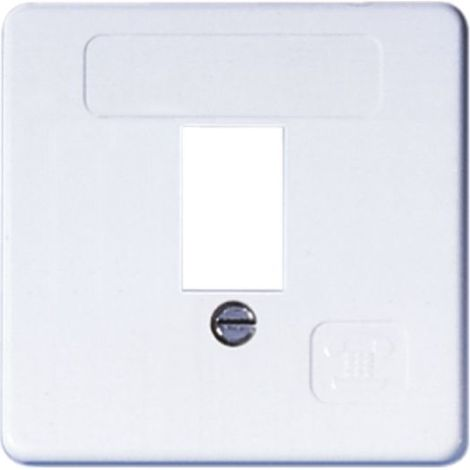 OPUS Abdeckung für TAE-Anschlußdose 50x50, 1-fach, inkl. Rahmen