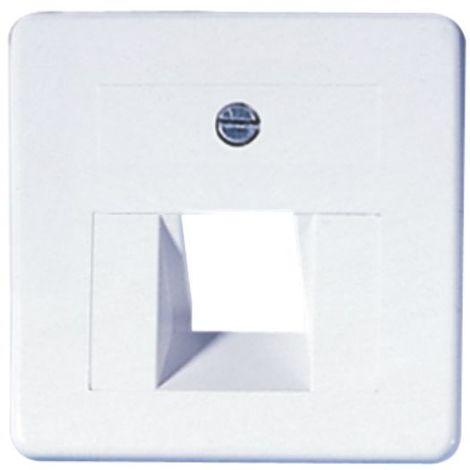 OPUS Abdeckung Modular-Anschlußdose 50x50, 1-fach, weiss, m.Rahmen