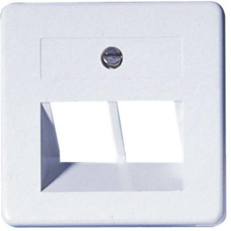 OPUS Abdeckung Modular-Anschlußdose 50x50, 2-fach, weiss, m.Rahmen