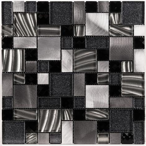 Opus Grey Sparkle 30cm x 30cm Mosaic Sheet