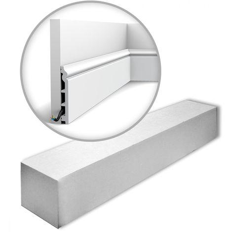 Orac Decor SX118-RAL9003-box LUXXUS CONTOUR 1 carton 12 pièces Plinthes Moulures decoratives 24 m