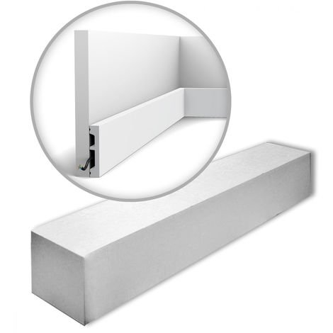 Orac Decor SX157-RAL9003-box AXXENT SQUARE 1 carton 32 pièces Plinthes Moulures decoratives 64 m