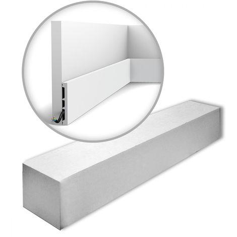 Orac Decor SX163-RAL9003-box AXXENT SQUARE 1 carton 20 pièces Plinthes Moulures decoratives 40 m