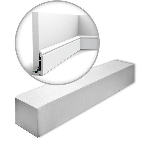 Orac Decor SX173-RAL9003-box AXXENT CONTOUR 1 carton 16 pièces Plinthes Moulures decoratives 32 m