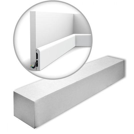 Orac Decor SX183-RAL9003-box AXXENT CASCADE 1 carton 26 pièces Plinthes Moulures decoratives 52 m