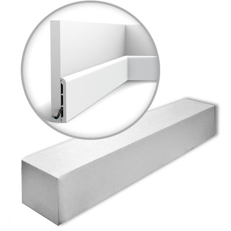 Orac Decor SX184-RAL9003-box AXXENT CASCADE 1 carton 18 pièces Plinthes Moulures decoratives | 36 m