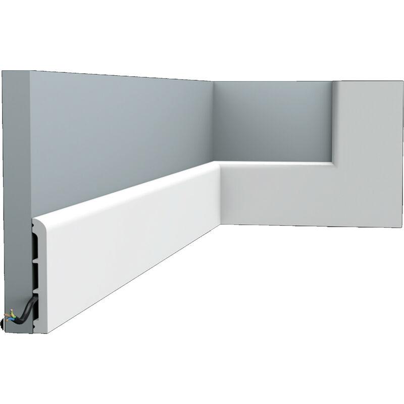 Z/ócalo Orac Decor SX163 AXXENT SQUARE Z/ócalo Multifuncional Elemento decorativo para pared dise/ño atemporal cl/ásico blanco 2 m