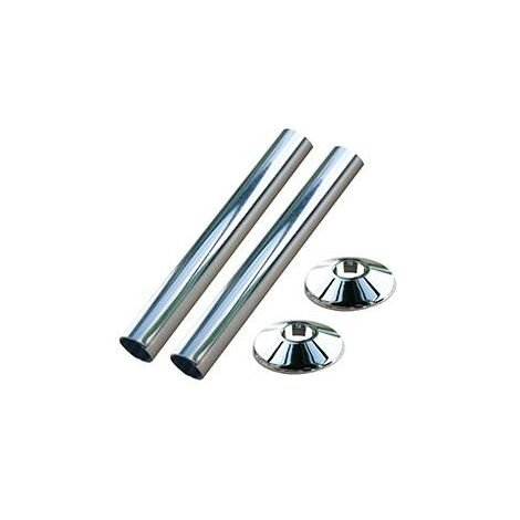 """main image of """"Oracstar 15mm Chrome Pipe Covers & Collars For Plumbing"""""""