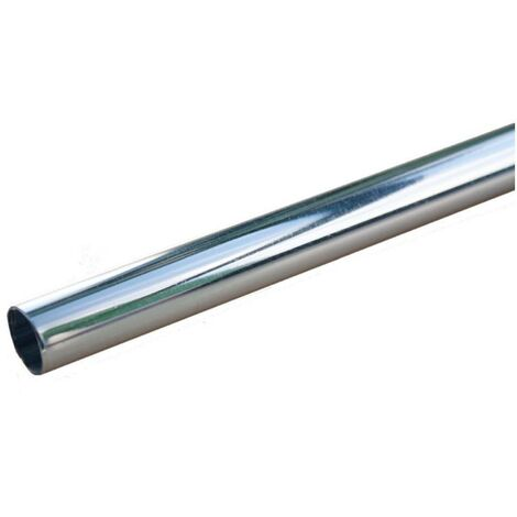 """main image of """"Oracstar 1m x 15mm Chrome Pipe Covers - Pack of 3 For Plumbing"""""""