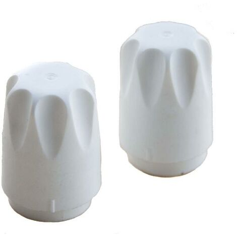 Oracstar White Radiator Caps with Adapters - Pack of 2