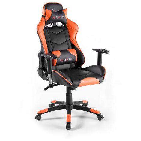 Orange Fauteuil de bureau gamer en PU Racing Orange