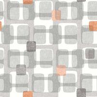 Orange Grey Retro Block Pattern Wallpaper Arthouse Vintage Geometric Bedroom