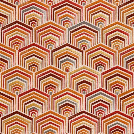 Orange Red Art Deco Wallpaper Design Retro Paste The Wall Textured Vinyl