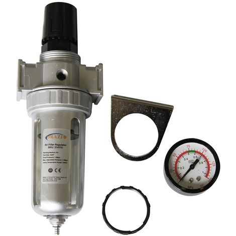 "ORAZIO Budget 60cc Air Compressor Line Filter Regulator Water Moisture Trap 3/8"""