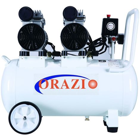 ORAZIO Ⓡ Low Noise Silent Oiless Air Compressor 65DB 220V 45L For Garage Clinic