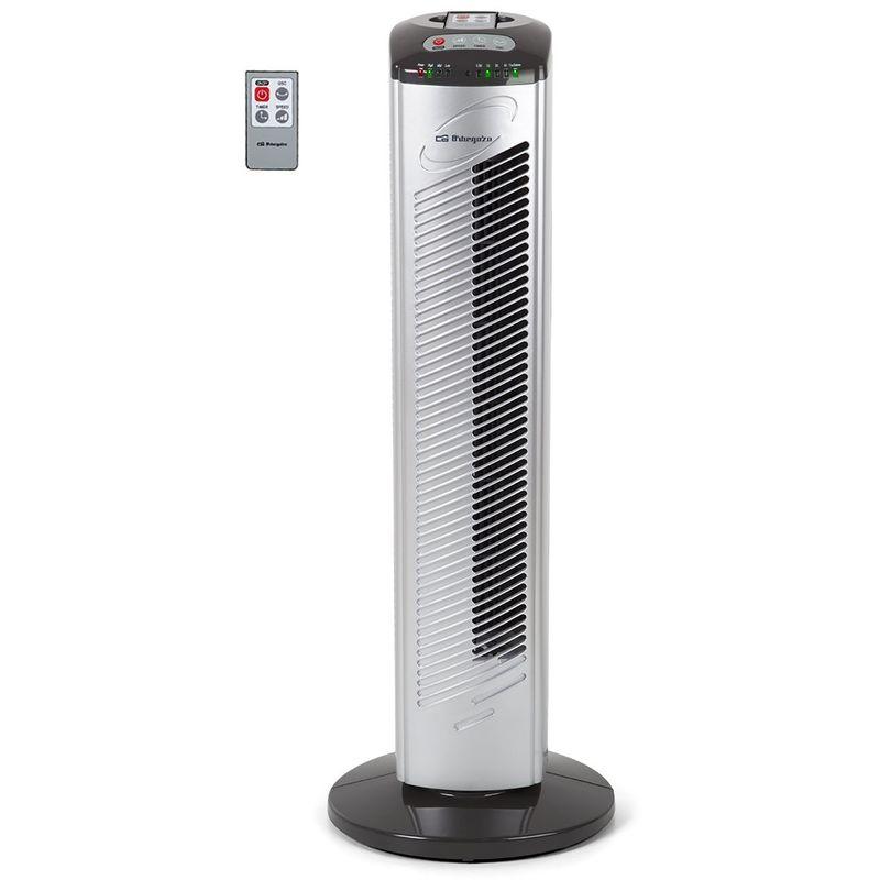 TWM 0975 ventilatore Torre (42 W, 3 velocità, programmabile, telecomando), Nero/Grigio Orbegozo