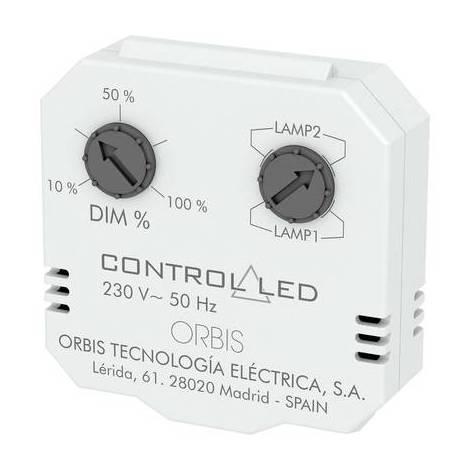 ORBIS Zeitschalttechnik OB200010 Dimmer da incasso Adatto per lampadina: Lampadina ad incandescenza, Lampadina a