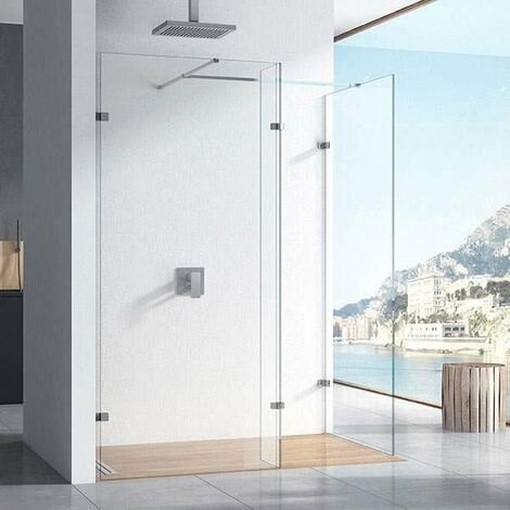 """main image of """"Orbit 10mm Walk-In Shower Enclosure with Deflector Panel 1200mm x 900mm (700mm+900mm)"""""""