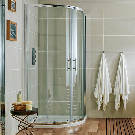 Orbit A6 Double Quadrant Shower Enclosure 900mm x 900mm - 6mm Glass