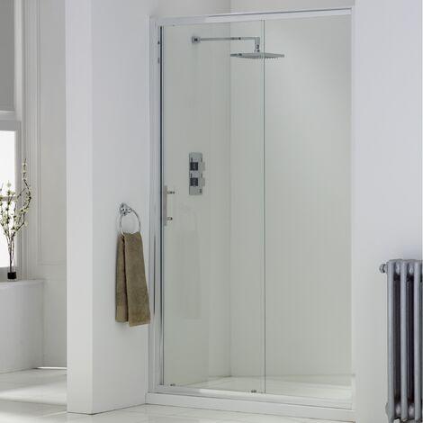 "main image of ""Orbit A6 Sliding Shower Door 1100mm Wide - 6mm Glass"""